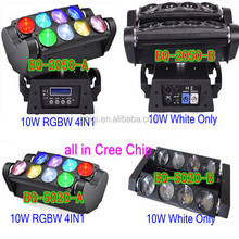 8PCS 10W RGBW LED Sweeper Moving