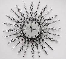 2013 stainless steel round shape custom metal bar wall clock