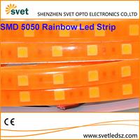 New Arrival 5050 SMD Neon LED Strip Rainbow Light Purple/Pink/Green/Orange/Blue IP65 Waterproof 150 Leds Fluorescent Color 12V