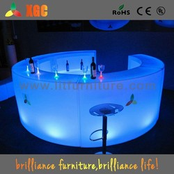 LED illuminating bar table and chairs, inflatable bar table, sushi bar tables