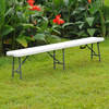 Platic Folding Garden Bench for Event or Camping