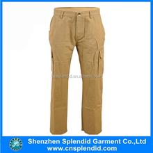 men 100%cotton engineer uniform pockets khaki work pants