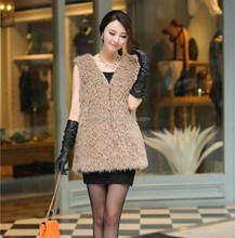 hot selling Custom faux fur vest for ladies