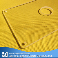 Clear Quartz Glass Substrate With Round or Square Shape