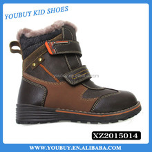 Fashion 2015 teenage boots, overseas eva winter children shoes with fur decoration