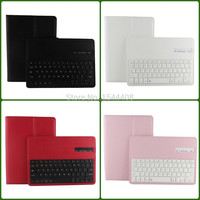 8' V3.0 wireless bluetooth removable keyboard leather smart cover for ipad case