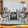 Modern 5 pcs Patio Conversation Seating Table Fire Pit Set