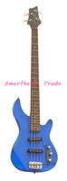 High quality blue color and solid body two pickups electric bass