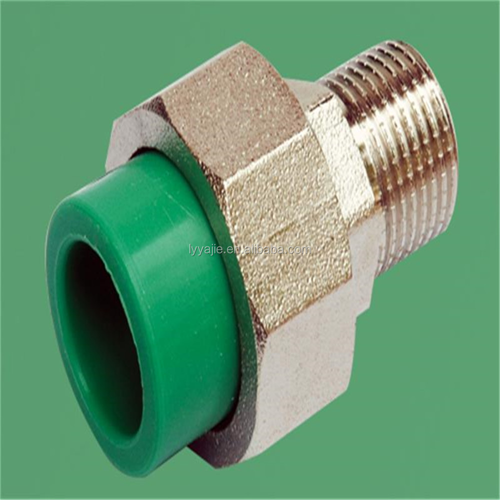 Factory supply plastic green ppr pipe fitting male
