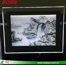 Super Optical Slim Acrylic Led Frame Display