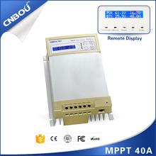 40a 12 v 24 v controlador de carga solar inteligente