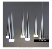 Modern simple meal creative LED cone chandelier,12-head disk hanging lamp