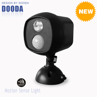 New Products High Power Wall Mounted Battery Operated LED Motion Sensor Flood Light With Waterproof For Indoor And Outdoor