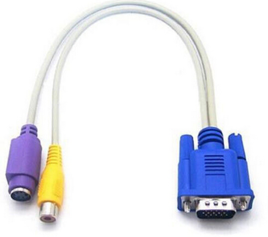 colorful VGA RCA S-Video AV Adapter VGA RCA cable