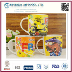 Promotion colorful ceramic coffee mugs custom logo