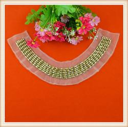 New cheap gold beaded neckline designs for lady kurtis churidar women dress garments wedding dress on sale