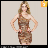 Summer elegant gold sequin sexy free prom dress for women