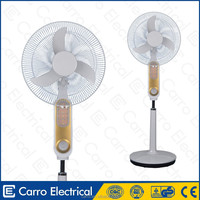 China Foshan manufacture 16inch solar rechargeable pedestal fan with air cooler