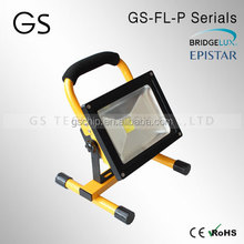 rechargeable portable 12v battery powered led floodlight energency work light and mining site