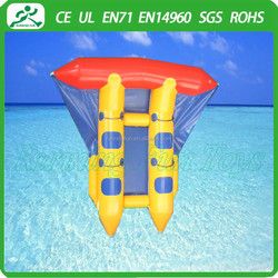 Hot selling inflatable water fly fish banana boat toys for water sport