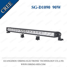 """OSRING hot single row 24.9"""" 30,000 hours life span 90W led light bar for car 4x4 accessories"""
