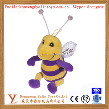 new design bee Stuffed key Chain Cute Keychains Plush Animals Toys
