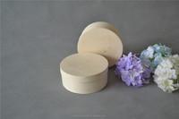 Christmas Round --shape and Small wood jewelry box Veneer Poplar Wood Box