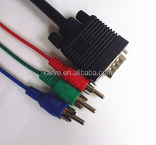 high quality magnet ring vga to 3 RCA splitter cable