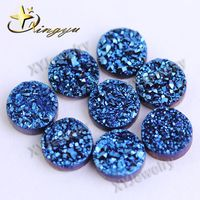 Natural Round Blue Agate Druzy Stone Wholesale