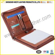 A4 Business Folder Leather/PU Fashionable Cheap Leather Portfolio