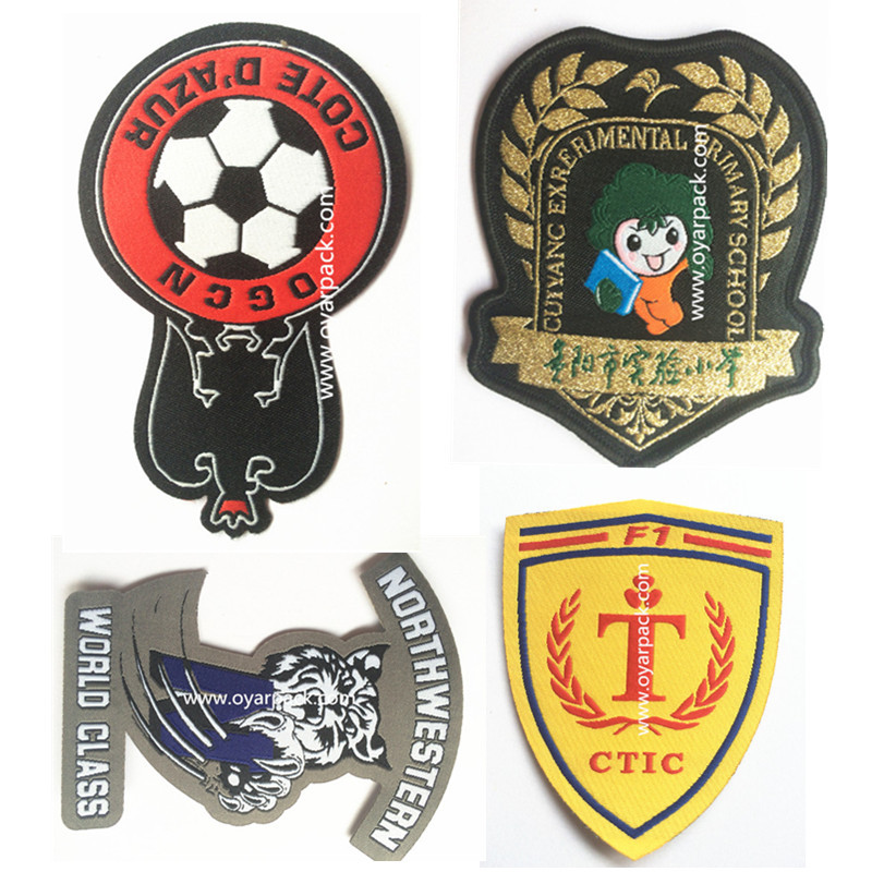 Wholesale embroidery designs woven patch for clothing