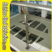 Durable 304 316 Stainless Steel Stair Handrail Post Railing Base Plate