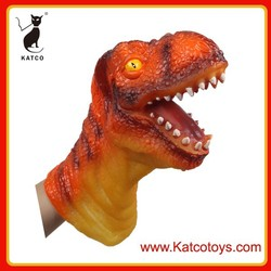 2015 new product ECO-friendly plastic Realistic dinosaur hand puppet for Parent-Children interacion