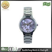 2015 stainless steel strap flower shell kids glow in dark watch