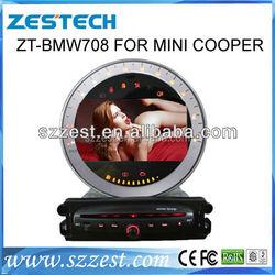 High Quality 2 din In- dashboard car dvd player For BMW mini cooper A8 UI BT 3g WIFI