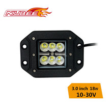 High quality 18W led trailer work lights china with diecast aluminum housing and cree chips