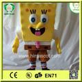 Caliente! Popular de piel de dibujos animados bob esponja traje de la mascota para adultos