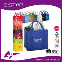 2015 New Design factory wholesale grocery promotional laminated Non Woven shopping tote bag