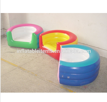 Customize Inflatable Adults Chair Sofa Plastic Inflatable Sofa Chair For Kids Adults