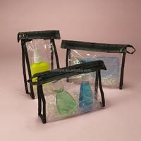 Knitting sewing travel pouch cosmetics toiletries pvc bag