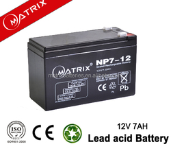 Normally used 12v 7ah Smf Agm Ups Battery from MATRIX BRAND