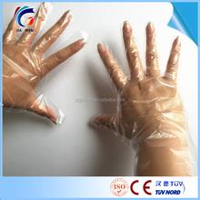 Disposable plastic hand glove hdpe ldpe polyethylene gloves disposable pe glove for hair dye
