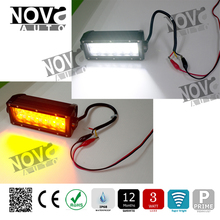 12Volt 36W Flash Warning Light Amber White Dual Color Led Light Bar