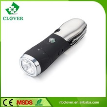 Competitive with multi-function tool 4 WHITE LED+ 1 RED LED emergency power style flashlight with emergency harmmer