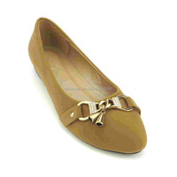 metal hasp elegant latest style little bell best quality diamond women flat casual shoes