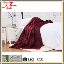 decorative micro polar fleece fabrics blanket quilt