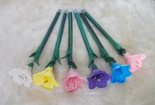 2014 wholesale cute novelty design pretty azalea shape ball pen 05mm