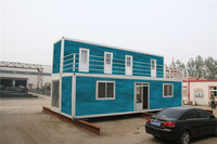 earthquake luxury woode shipping movable prefabricated container house