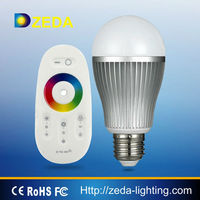2014 hot design with high quality ! 6W RGB led bulb with dimmable remote controller wifi bulb led light