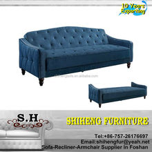 Sectional Fabric & Leather chesterfield Sofa Click Clack Sofa Bed XYBC-F01